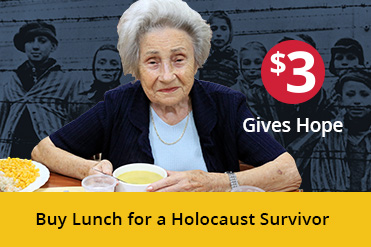 Buy a Holocaust Survivor lunch for just $3
